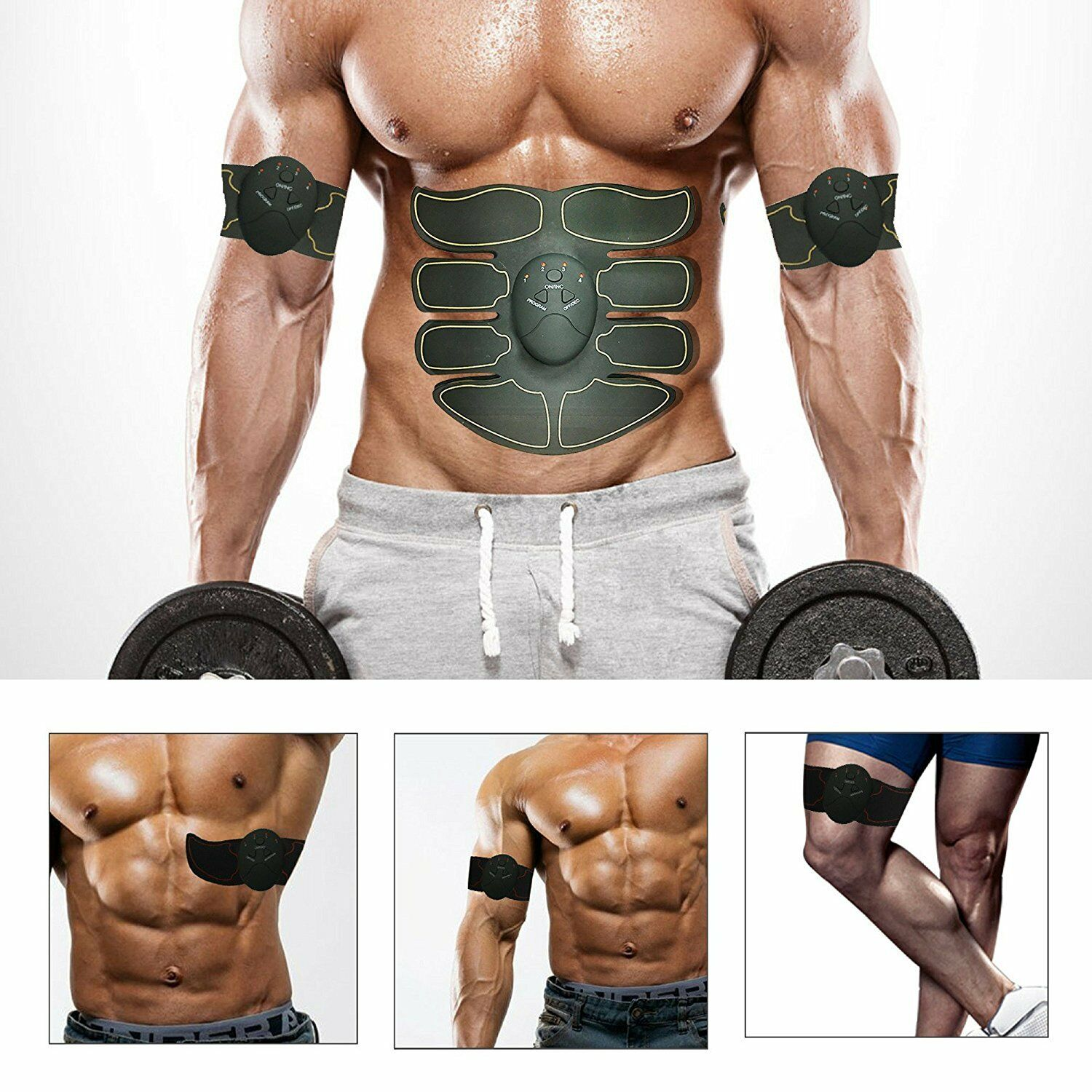 3 Color- ABS Simulator EMS Training Body Abdominal Muscle Exerciser Home Gym Set 4