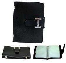 Black PU Leather Credit Card Money And Cash Holder Wallet Black for 20 Cards