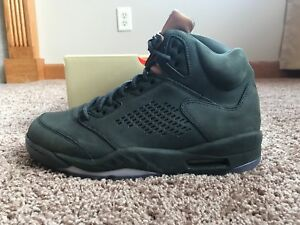 cd8c006a1451d4 Nike Air Jordan Retro 5 Prm Sequoia Mtlic Gold Size 9.5 881432 305 ...