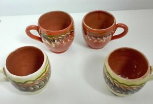 Coffee About Details Ceramic Mug Romanian Horezu Handmade Rustic Glazed Romania Of 4 Mugs Set 08OkXnPw