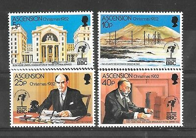 Stamps Ascension 1982 Christmas Sg328-331 Small Crease On 40p Mnh/umm British Colonies & Territories