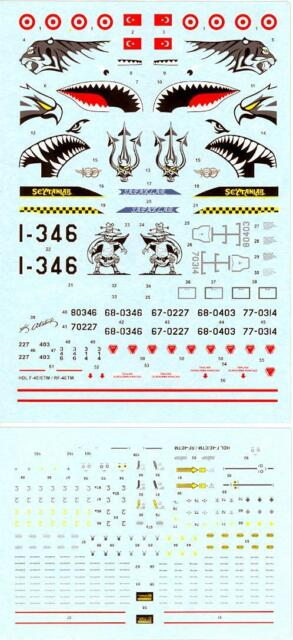 Hi Decals 1//48 MCDONNELL DOUGLAS F-4E /& F-4ETM PHANTOM II Jet Fighter