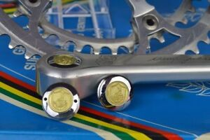 Dust-caps-for-Vintage-campagnolo-50th-anniversary-crankset-steel-chrome-record