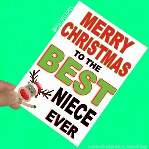 Merry Christmas Niece.Details About Niece Christmas Cards Merry Christmas Cards Best Nephew Ever Cards Xmas Pc558