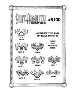 SUITABILITY-WESTERN-HORSE-SHOW-SHIRT-YOKES-SEWING-PATTERNS-SET-6100