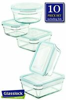 Glasslock Glass Storage Containers With Lids 10pc Set Nesting Design, Oven Safe on sale