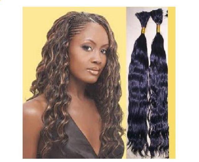 22   Wavy Remy Human Hair Braiding BULK Extensions 2oz a044d7d93