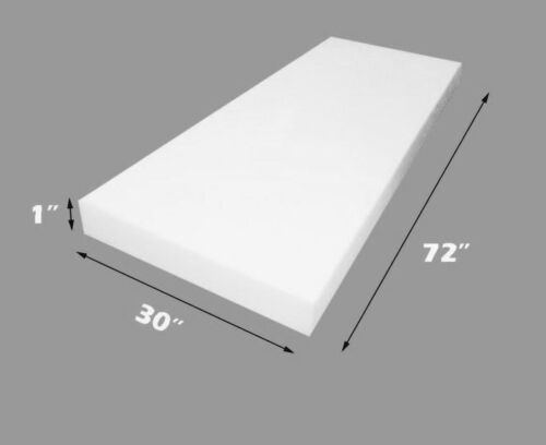 "Dry Fast Reticulated Foam Sheets Upholstery Foam 1/"" Thick 30/"" Wide x 72/"" Long"