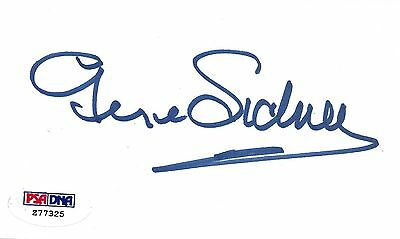 Movies George Sidney Signed Index Card Psa/dna Anchors Aweigh Viva & Las Vegas Director Smoothing Circulation And Stopping Pains