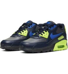 NEW KIDS NIKE Air Max 90 Ltr Gs Youth Shoes Wolf GreyBlue