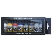 Vallejo Model Air Basic Colors Acrylic Paint Set For Air Brush - Assorted