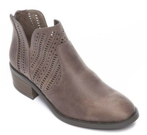 ND Women's DW219750 'LIDA' PERFORATED Taupe ANKLE BOOTIES SHOES  -  7 M
