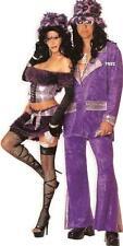 SS4U Purple Holographic Snakeskin Spandex Pimp Pimpette Costume Top Skirt Hat ML