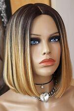 Lace Perücke Front Wig halblang bob blond braun schwarz hautimitat silk skin top