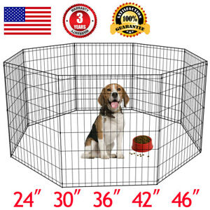 24-30-36-42-48-Tall-Dog-Playpen-Crate-Fence-Pet-Play-Pen-Exercise-Cage-8-Panel