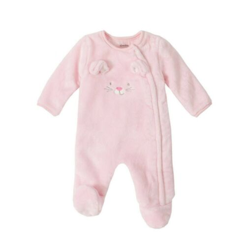 Absorba Infant Baby Sherpa Footed Pajama Sleeper Pink Bunny Rabbit NWT
