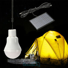 3W Portable Solar Panel Power LED Light Bulb Lamp for Outdoor Camp Tent Fishing