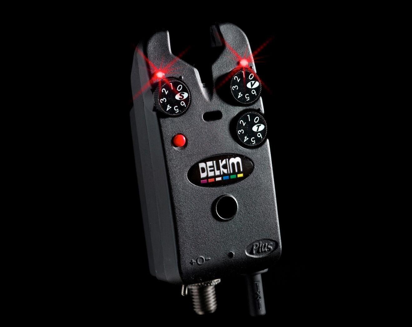 Delkim Tx-i Plus Electronic Bite Alarm - Red   TXI Indicator   Carp Fishing