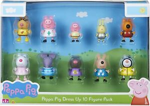 Peppa-Pig-Disfraz-10-Figuras-Pack-de-Accion-Estatuillas-Juguete-Personajes
