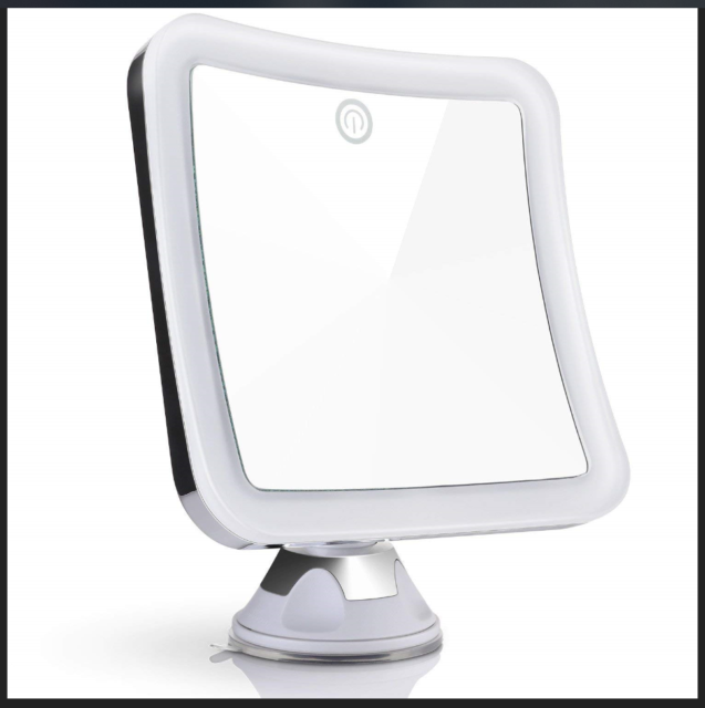 Led Vanity Square Mirror Hollywood Illuminating Make Up Shaving Bathroom Travel
