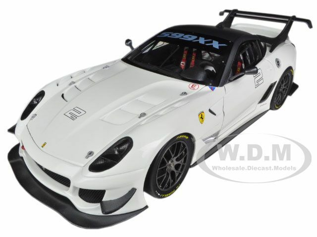 ELITE FERRARI 599XX 599 XX EVO bianca 1 18 DIECAST MODEL CAR BY HOTWHEELS BCJ92