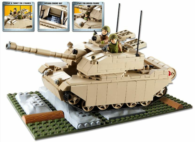 HM Armed Forces Army Challenger II II II Tank Set Constructable Building cf0237
