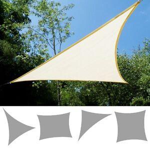 Image is loading Kookaburra-Ivory-Breathable-Shade-Sail-Garden-Patio-UV- & Kookaburra Ivory Breathable Shade Sail Garden Patio UV Sun Screen ...