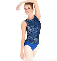 Capezio 10581W Ladies Circular Garden Tank Leotard Blue Black Ballet Dance