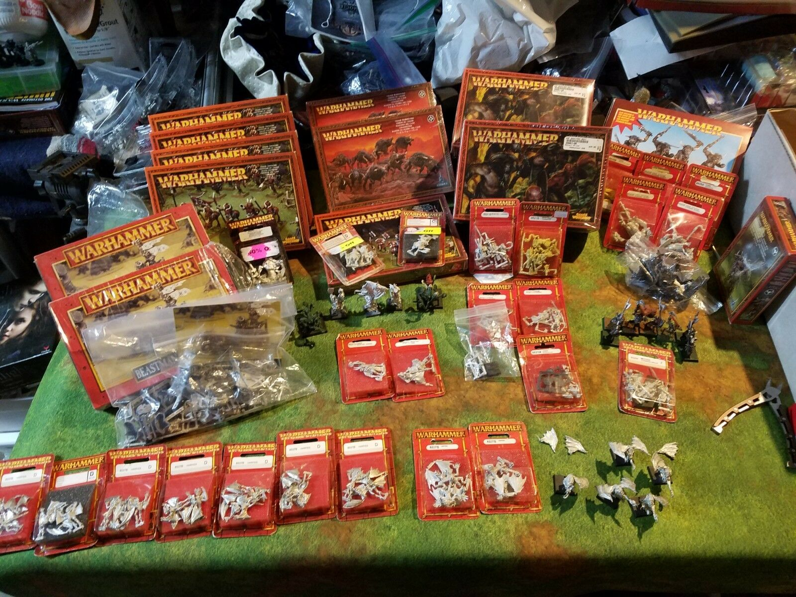 Huge Mostly Sealed Beastmen Army Age Of Sigmar 9th Age Kings Of War  Beast chaos