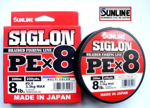 Sunline Siglon Pe X 8 201m200m Acht Braided Fishing Line Mehrfarbig Japan Line