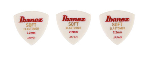 3 Stück soft 2,2 mm BEL4ST22 Ibanez Elastomer Triangel Picks Plektren