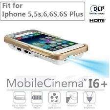I60+ 280 lums Mobile Cinema DLP Mini Handy Projector For iPhone 5S 6 6 6s 6P D4