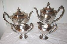 Vintage Reed Barton 4pc Set Coffee Tea Pot Creamer Sugar Sierra 3690 Silverplate