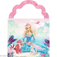 BARBIE Island Princess FAVOR BOXES (4) ~ Birthday Party Supplies Treat Loot Pink