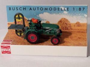 Busch-40069-Gauge-H0-Tractor-Kramer-KL11-With-Bandsaw-New-Original-Packaging