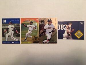 Barry Bonds San Francisco Giants Assorted Baseball Cards 5 Card Lot
