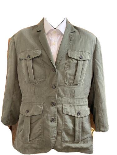 Banana Republic Green Safari Cargo Blazer Jacket S