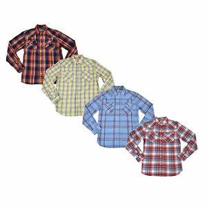Levis-Mens-Buttondown-Shirt-Long-Sleeve-Casual-Button-Up-Plaid-Pockets-S-M-L-New