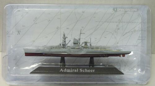 """1933 Atlas Schwerer Kreuzer /""""Admiral Scheer/"""" Fertigmodell 1:1250 Neu"""