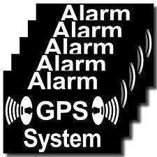 5 Aufkleber Sticker GPS Alarm System gesichert Auto Fenster Tür Fahrrad Motorrad