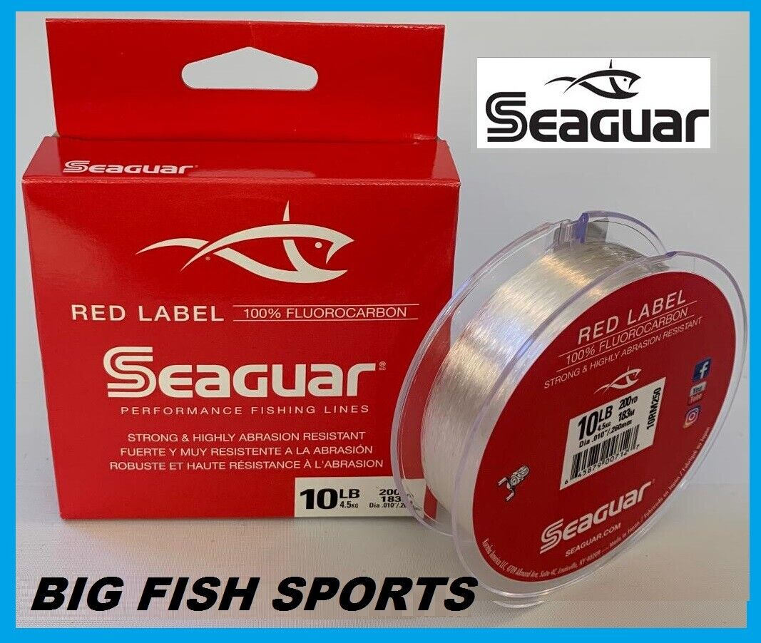 Seaguar Red Label 100/% Fluoro 250yd 6lb 06RM250