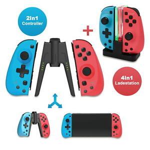 EAXUS® 2er Set Joy Con Controller für Nintendo Switch inkl. Docking Ladestation