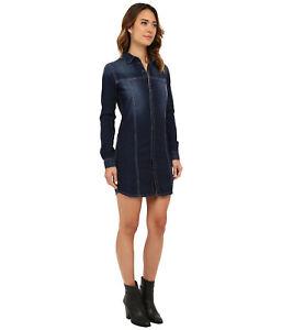 90581cea75d Image is loading Hudson-Jeans-Tricia-Denim-Utility-Shirt-Dress-Berkeley-