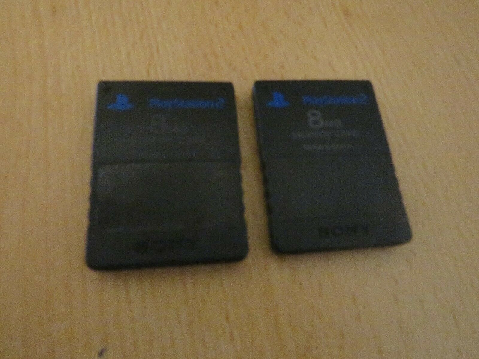 Official 8mb ps2 memory card x2 playstation 2