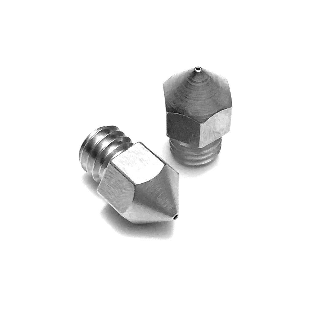 Micro Swiss .4mm MK8 Plated Nozzle for MakerBot, Creality CR10, Ender 3 (2pcs)