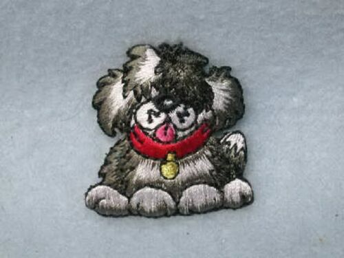 Fuzy Puppy Dog Mutt Embroidered Iron On Patch