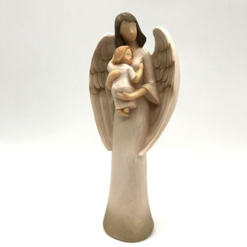 """Guardian Angel with Child Figurine Seagull Studios 2007 New Without Box 8/"""""""