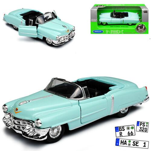 Cadillac Eldorado Cabrio Offen Hell Grün 1953-1966 ca 1//43 1//36-1//46 Welly Model