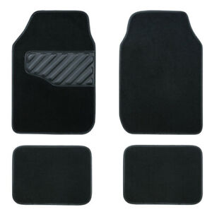 Universal-Car-Floor-Mats-Elegant-Black-Anti-slip-Car-styling-Carpets-Cloth-4-PCS