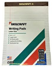 12pk Skilcraft Writing Pads Legal Rule 85 X 11 White 50 Sheetspad